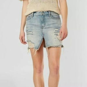 We The Free Relaxed and Destroyed Denim Skirt 25